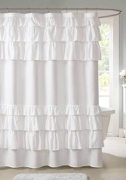 Madison Park Grace Ruffled Shower Curtain