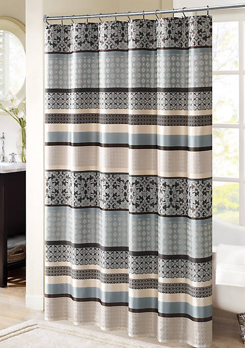 Madison Park Princeton Jacquard Shower Curtain