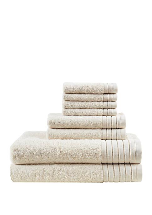 Mirage Solid Cotton 8 Piece Towel Set
