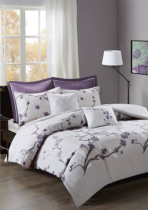 Madison Park Holly 7 Piece Cotton Duvet Cover
