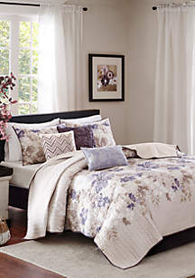 Madison Park Luna 6 Piece Reversible Coverlet Set