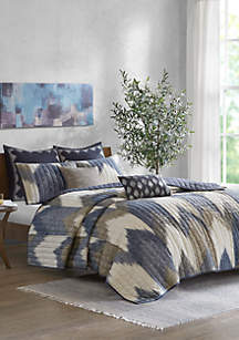 INK + IVY® Alpine 3 Piece Printed Cotton Coverlet Set