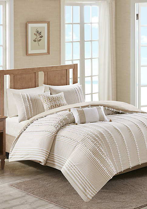 Anslee 3 Piece Cotton Yarn Dyed Duvet Cover Set