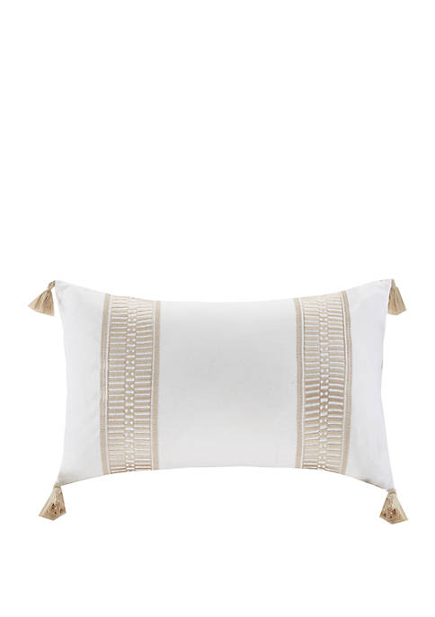Harbor House Anslee Embroidered Cotton Oblong Decorative Pillow