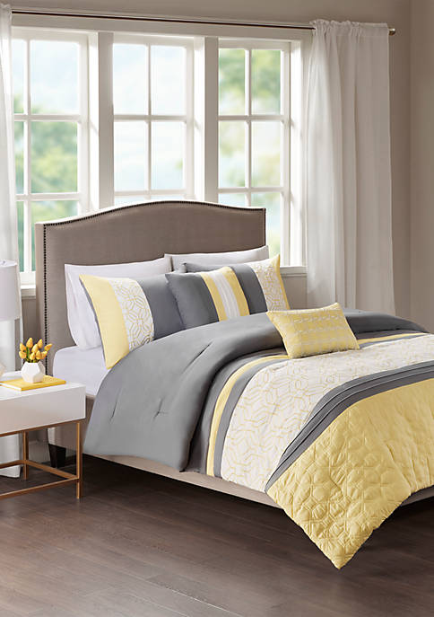 510 Design 5 Piece Donnell Embroidered Comforter Set
