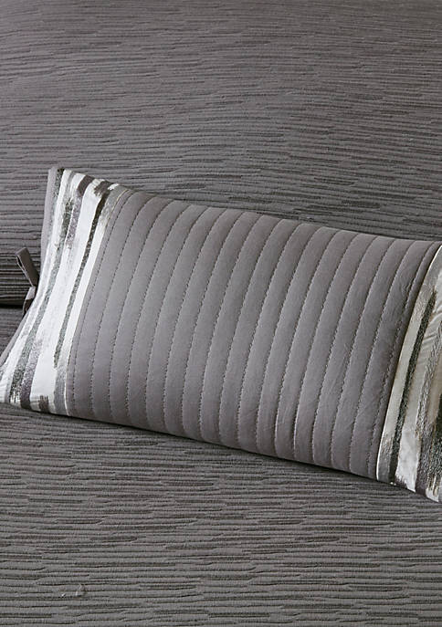 N Natori Hanae Embroidered Cotton Oblong Decorative Pillow