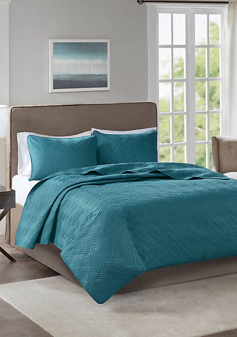 510 Design Lucca 3 Piece Reversible Embossed Coverlet