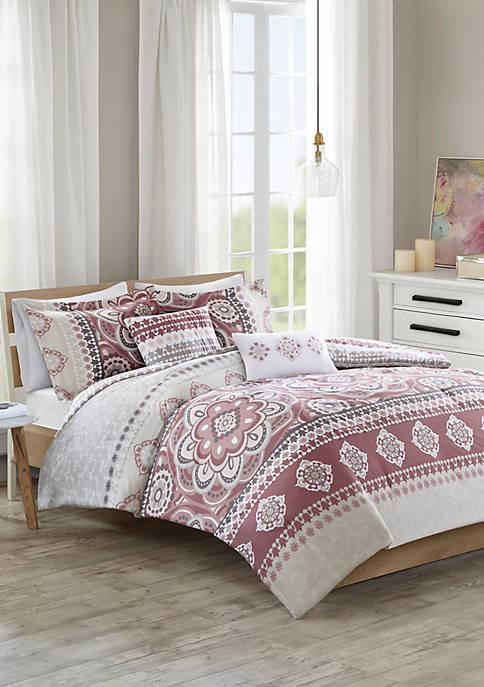 510 Design Neda 5 Piece Reversible Print Comforter