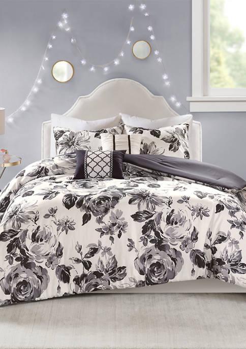 Dorsey Floral Print Comforter Set