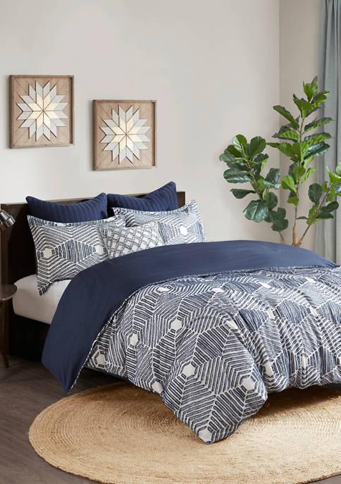 INK + IVY® Ellipse Cotton Jacquard Comforter Set