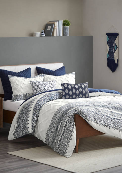 INK + IVY® Mila Cotton Printed Comforter Set