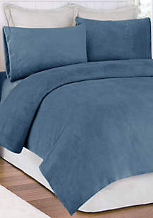 Soloft Plush Micro Raschel King Sheet Set - Fitted 78-in. x 80-in.