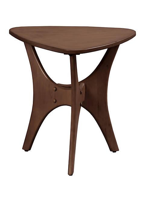 Blaze Triangle Wood Side Table