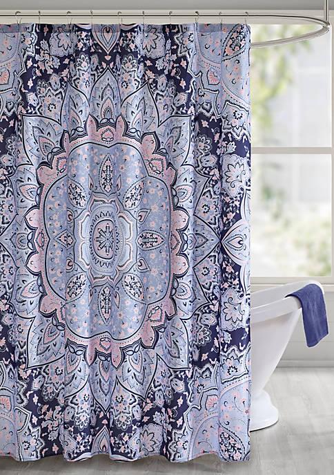 Intelligent Design Odette Printed Shower Curtain