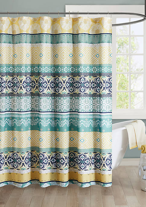 Intelligent Design Arissa Microfiber Printed Shower Curtain