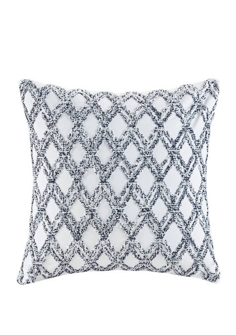 INK + IVY® Riko Cotton Embroidered Square Pillow