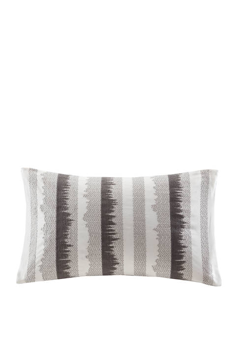 INK + IVY® Chet Embroidered Cotton Oblong Pillow