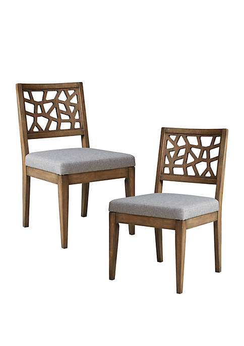 Set of 2 Crackle Dining Chairs