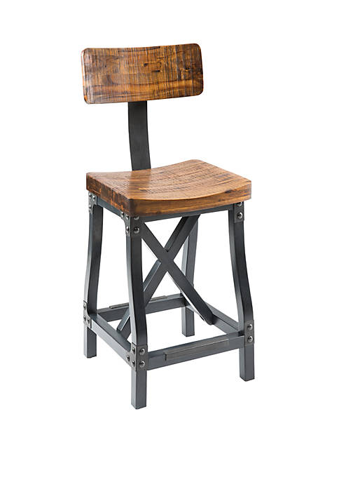 INK + IVY® Lancaster Barstool with Back
