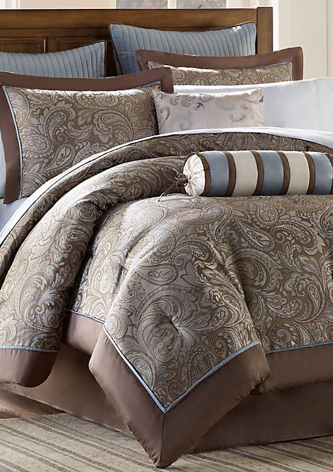 Aubrey 12-Piece Complete Bed Set- Blue