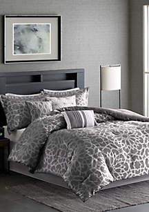 Carlow 7-Piece Grey Comforter Set