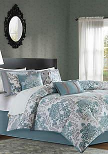 Bella 7-Piece Comforter Set- Aqua
