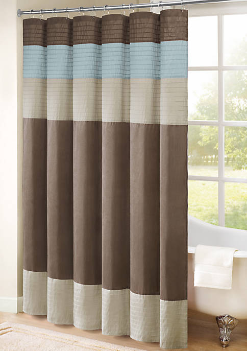 Trinity Pieced Faux Silk Shower Curtain