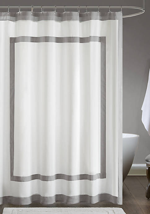 Madison Park Greyson Cotton Shower Curtain