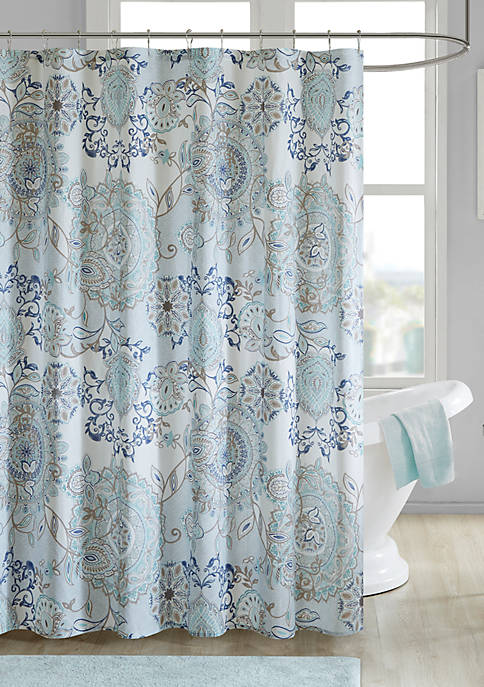 Madison Park Isla Cotton Printed Shower Curtain