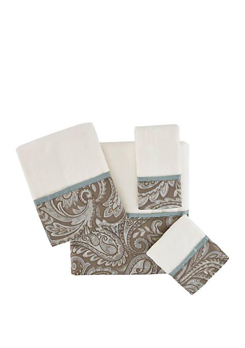 Madison Park Aubrey 6 Piece Jacquard Cotton Towel