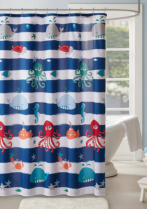Mi Zone Kids Sealife Printed Shower Curtain
