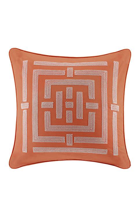 Nara Embroidered Cotton Euro Sham