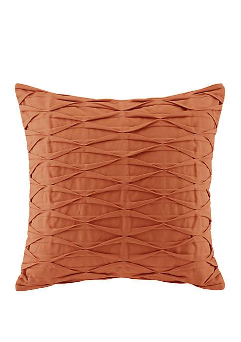 Nara Pintuck Cotton Decorative Pillow