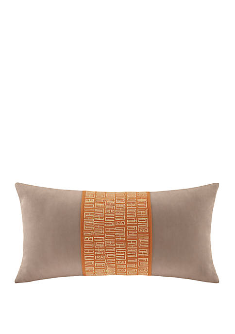 N Natori Nara Embroidered Cotton Decorative Pillow