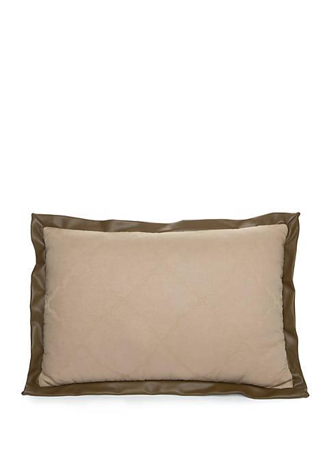 Biltmore® Avignon Faux Leather Trim Throw Pillow