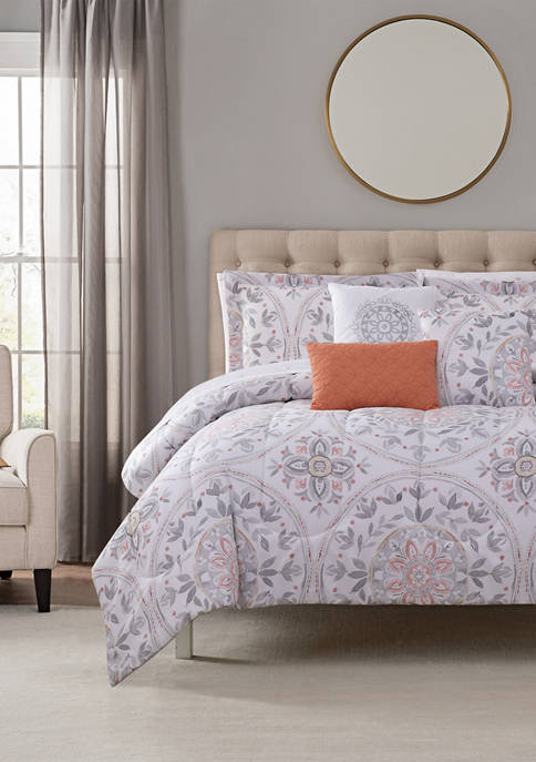 Maybelle Gray 10 Piece Comforter Set
