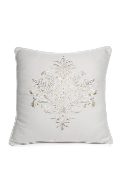 Biltmore® Argent Embroidered Throw Pillow