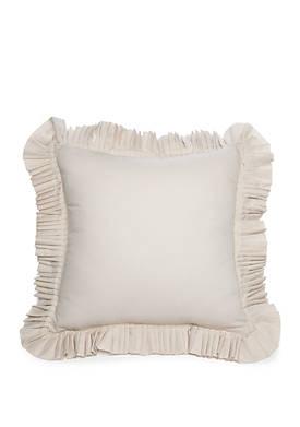 Argent Ruffle Throw Pillow