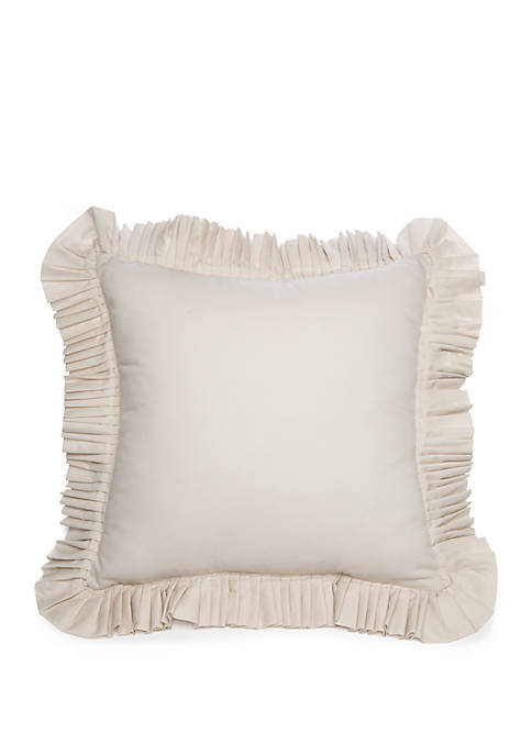 Biltmore® Argent Ruffle Throw Pillow