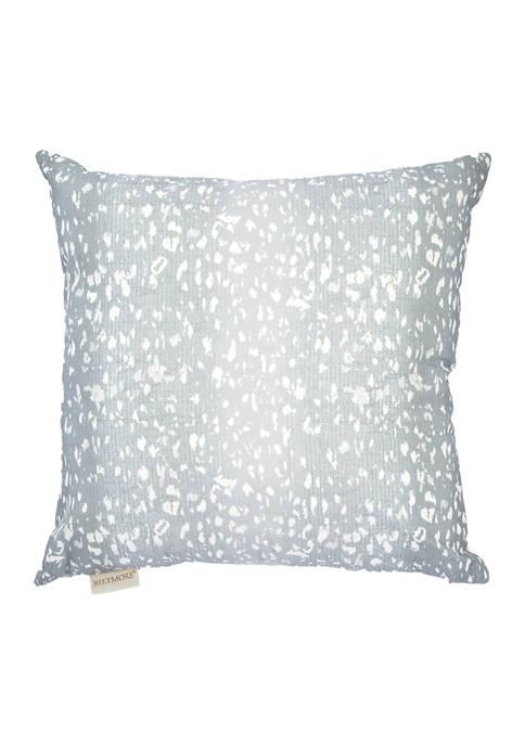 Biltmore® Kendall Square Silver Printed Decorative Pillow