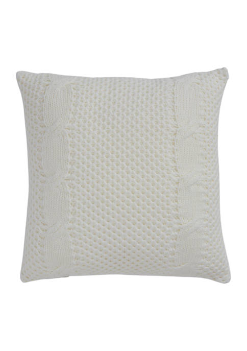 Alaina 18 in x 18 in Braided Knit  Decorative Pillow