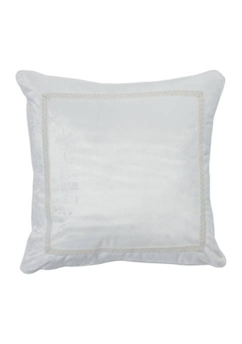 16 in x 16 in Messina Damask Velvet Pillow