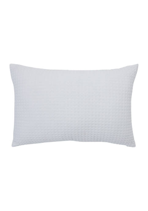 Messina Damask  12 in x 18 in Textured Waffle Decorative Pillow
