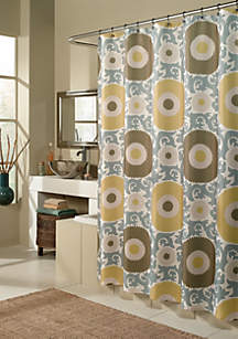 Ottoman Blossom Gold Shower Curtain - Online Only
