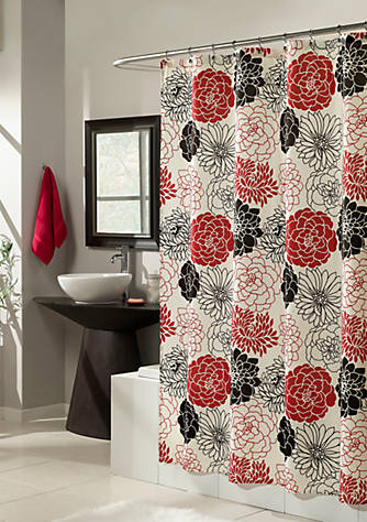 Mstyle Full Bloom Red Shower Curtain