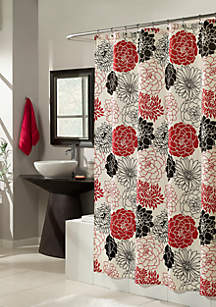 Full Bloom Red Shower Curtain