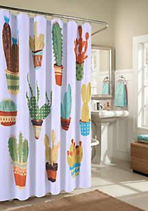 Happy Cactus's Shower Curtain
