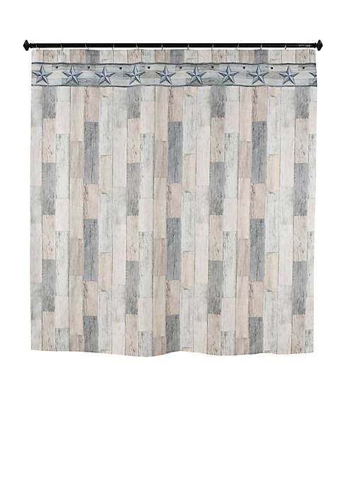 Weathered Wood & Stars Shower Curtain
