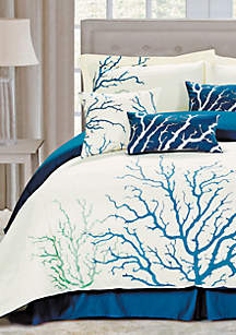 Coral Blue 7-piece King Comforter Set 110-in. x 96-in.