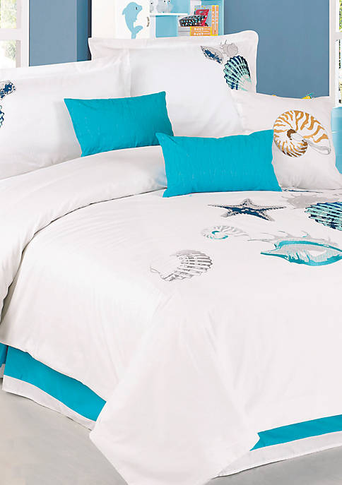 Panama Jack Shells 7-Piece King Comforter Set - 110-in. x 96-in.